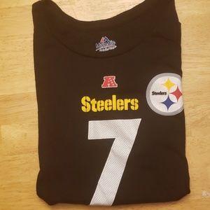 Steelers #7 Rothlisberger tshirt NWOT